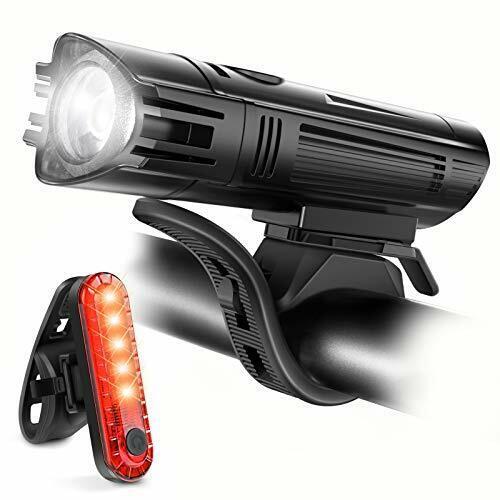 Ascher DEL Rechargeable Bike Lights Set-Front Lumière Feu Arrière Combinaisons DEL