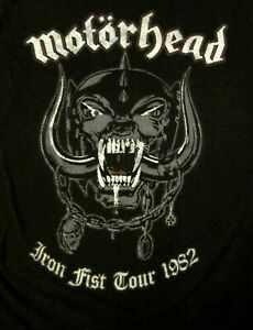 MOTORHEAD cd lgo GREY PIG / IRON FIST TOUR 1982 Official SHIRT SMALL new