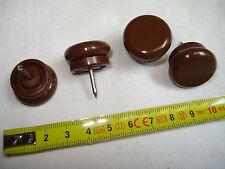 8 patins amortisseurs 23 mm embase plastique marron