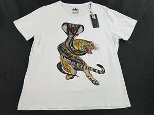 new-Heads-Or-Tails-men-t-shirt-tee-HTTS-28144-tiger-cobra-white-3XL-MSRP