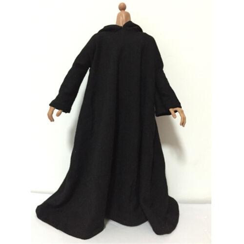 1//6 Kleidung Schwarz Mantel Kleidung für 12 /'/' Puppe Action Figure Body DIY