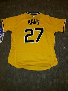 newest 7c416 b2a6c Details about Jung Ho Kang jersey #27 Pittsburgh pirates cool base yellow  alternative XLarge