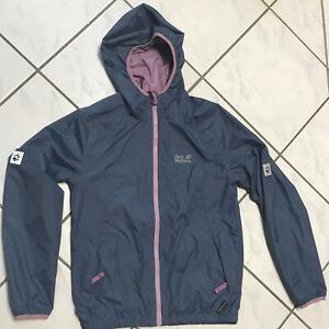 free shipping 17f83 ab8a7 Details zu Jack Wolfskin Texapor Kinder Sommerjacke Wetterschutzjacke  Regenjacke Gr 164