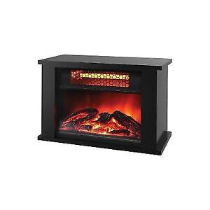 Nice Lifepro Lifesmart 750 Watt Infrared Quartz Mini Wood Fireplace Space Heater