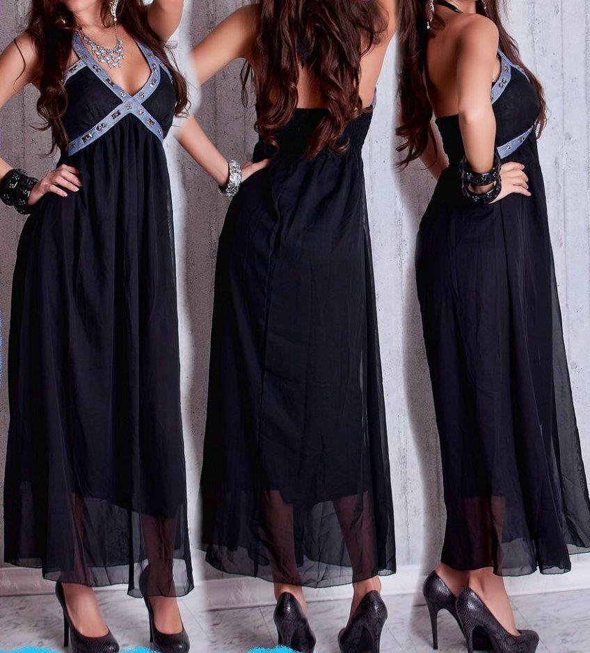 Longue Maxi Femmes De Sexy Mousseline Miss Dress En Soie wFO5t5q