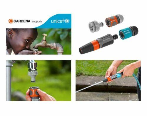 GARDENA Grundausstattung UNICEF Reinigungsspritze Hahnstück Wasserstop Kupplung