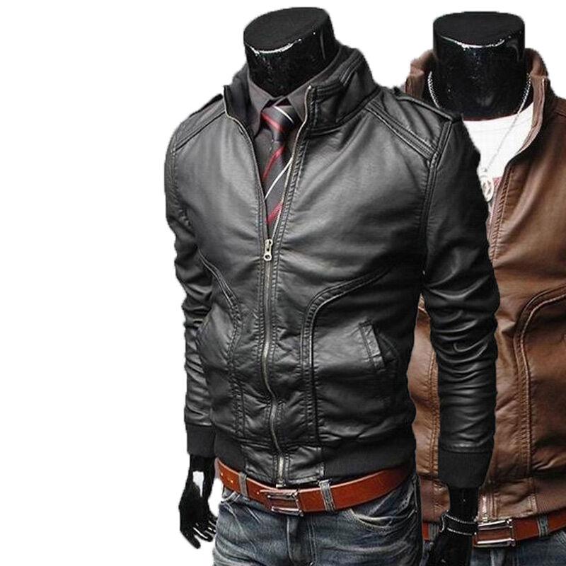 Veste en cuir pour hommes américains