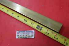 """4 Pieces 3//8/"""" x 1/"""" C360 BRASS FLAT BAR 12/"""" long Solid Mill Stock H02 .375/""""x 1.0/"""""""