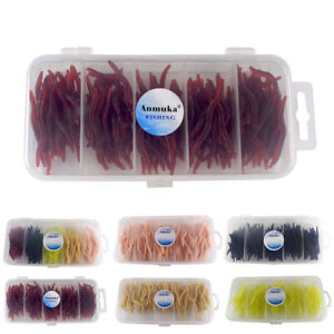 150Pcs-Simulation-Soft-Earthworm-Fishing-Bait-Worm-Lures-Hooks-Tackle-Baits-New