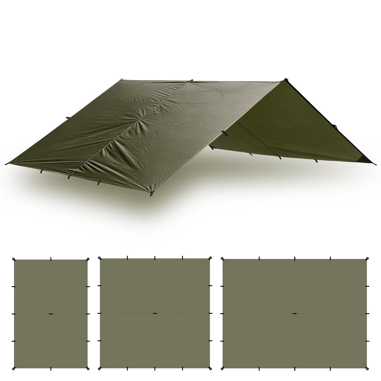 Aqua Quest Guide Tarp 13 x 10 ft Square Waterproof Tarp  Olive Drab