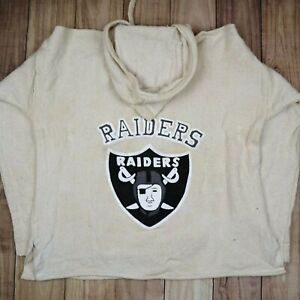 Mens-Vintage-Raiders-Spell-Out-Hoodie-Jumper-Canvas-Material