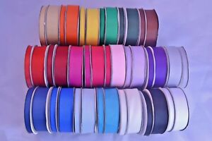 Full-25m-reel-grosgrain-ribbon-10mm-25mm-lots-of-colours-crafts-wedding-flowers