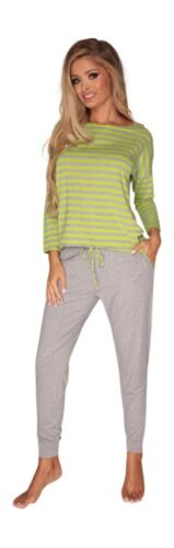 Womens Pyjama Set with Long Sleeve Top And Leggings Pants Size 8 10 12 14 16