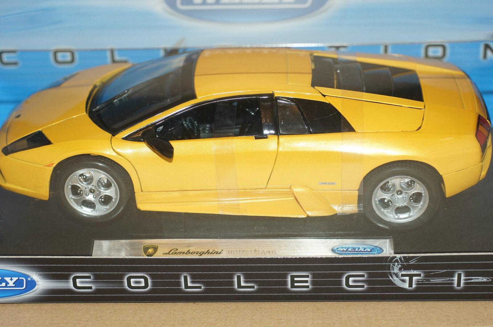 Rare Lamborghini Murcielago Yellow Opening Parts Model 1 18 Mint in Box Stunner