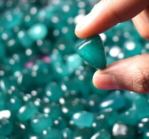 Cabochon Tumble 1000 Ct Colombian Green Emerald Collector's Gemstone Lot Natural