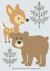 Crochet Patterns BABY DEER AND BEAR WOODLAND ANIMALS