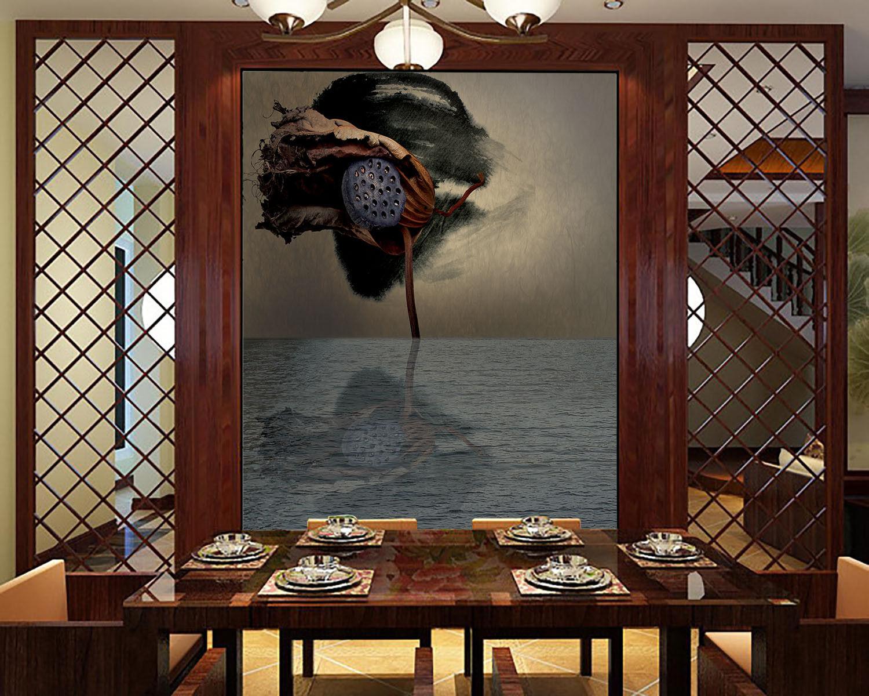3D Herbst Lotus Frucht 85 Tapete Wandgemälde Tapete Tapeten Bild Familie DE