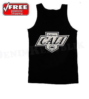 Men/'s California Republic No1 Diamond Bear Long Sleeve Black T Shirt Cali Life