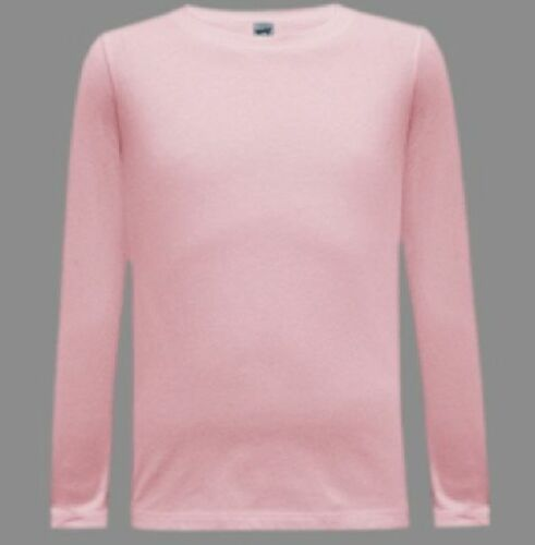 4-18 SOFT 100/% Cotton Fine Jersey Long Sleeve T Shirt Blanks Youth Girl Boy Sz