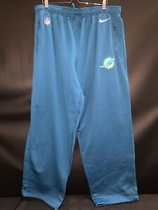 MIAMI DOLPHINS NIKE TEAM ISSUED THERMA-FIT PANTS WITH ZIP POCKETS SIZE-4XL