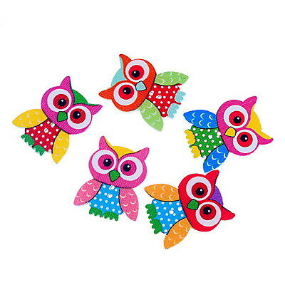 Wholesale Mixed Hot 2 Holes Sewing Wood Buttons Scrapbooking Owl 3.5x2.8cm