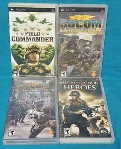 SOCOM-Medal-of-Honor-Field-Sony-PSP-Complete-4-Game-Lot-Playstation-Portable