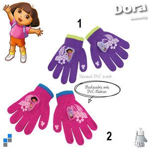 Disney-Acrylic-DORA-Kinderhandschuhe-Jungen-Winter-Handschuhe-mit-PVC-Aufdruck