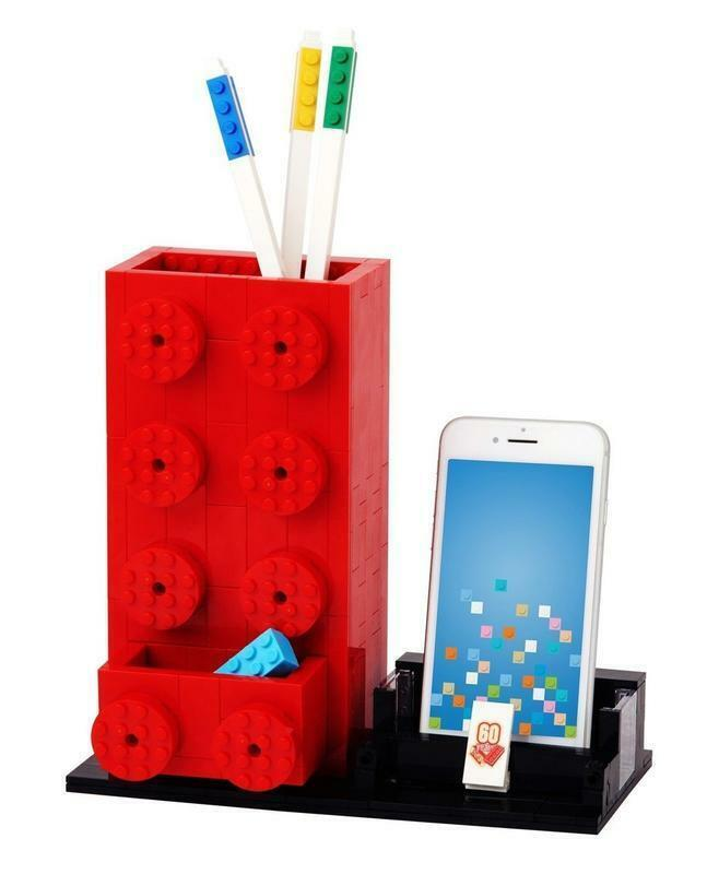 LEGO  60th Anniversary Red  Pen Holder, Pencil Pot, Free Shipping