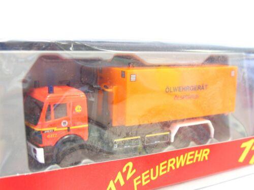 Ladekran Ölwehrgerät Feuerwehr Hamburg OVP Herpa 1//87 MB Wechsellader m LN942