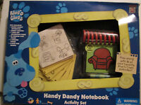 1998 Vtg Blue's Clues Handy Dandy Notebook Steve Red Couch 14 Page W/ Crayon
