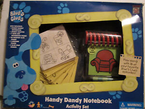 new 1998 vtg blue s clues handy dandy notebook steve red couch 14