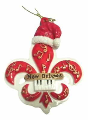 New Orleans Christmas Ornaments.Red Music Fleur De Lis New Orleans Christmas Ornament Party Favors 616906876528 Ebay