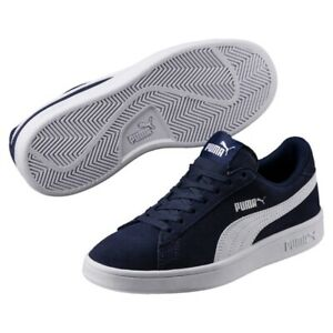 Details about Puma Smash v2 SD Jr Low Top Unisex Children Ladies Shoes Trainers 365176 Sale