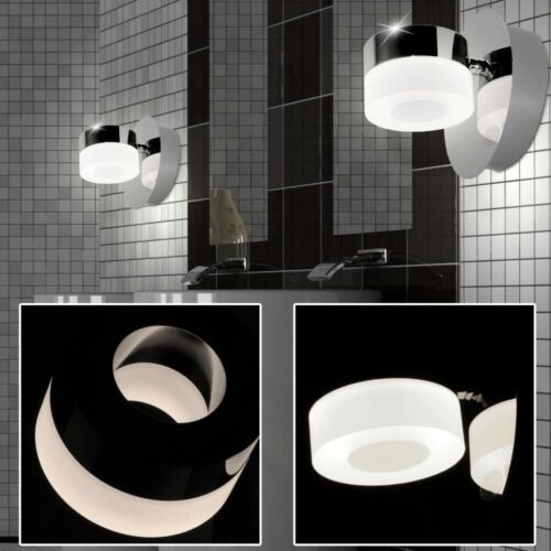 2x DEL chrome mur Lampes salle de bains miroir éclairage lampes Lis énergie Spar Wofi