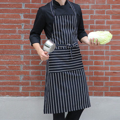 Dunkelblaue und weiße APron Metzgerei Catering Kochenfi Kochschürzen New S6H9