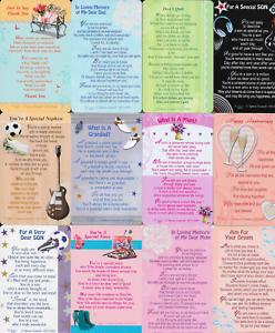 WALLET-PURSE-KEEPSAKE-CARDS-SENTIMENTAL-INSPIRATIONAL-MESSAGE-MINI-CARDS-B7