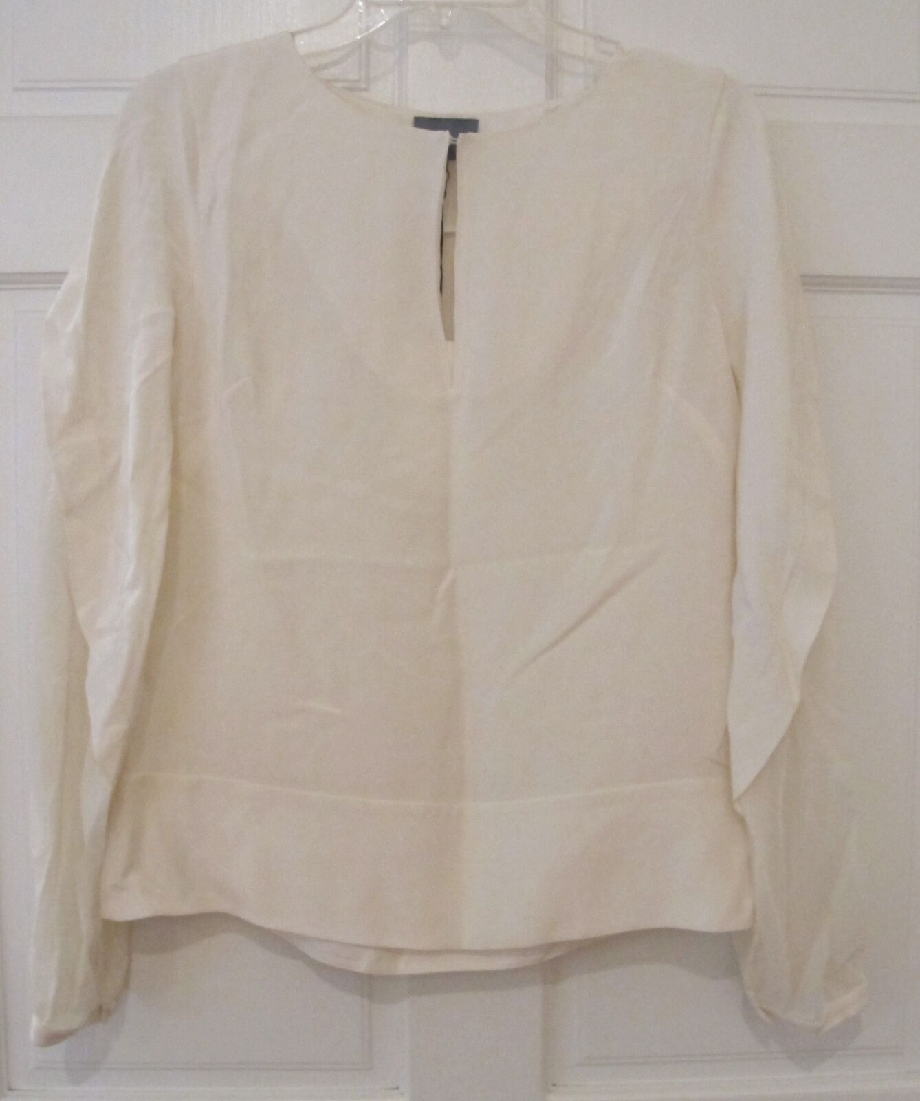 Maiyet Poet Cape Blouse Ivory Draped Long Sleeve Top Sustainable Größe 38 6 NWT
