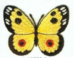 Large Yellow Black Butterfly Embroidery Applique Patch