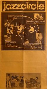 Jazzcircle RARE original jazz poster Belgium 1982 JAZZ FUNK FUSION