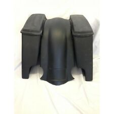"""4"""" HARLEY TOURING BAGGER STRETCHED EXTENDED SADDLEBAGS LIDS FENDER DUAL CUTS"""