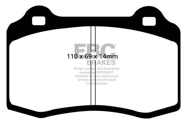 EBC Redstuff Front Brake Pads for MG XPOWER SV 4.6 (320 BHP) (2003 > 05)