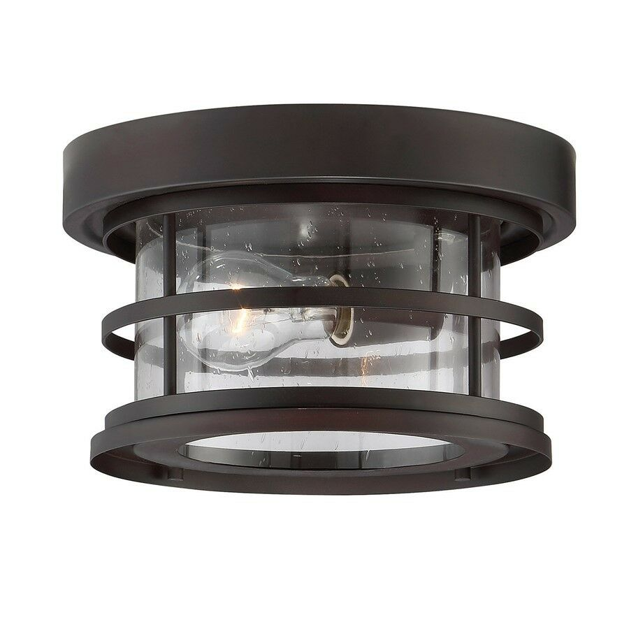 Savoy House Barrett 10  Outdoor Ceiling Light Bronze Seeded - 5-369-10-13