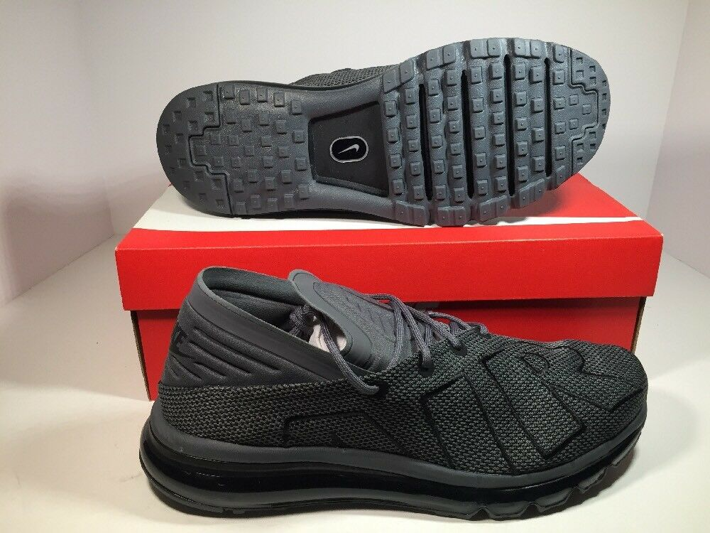 New Nike AIR MAX FLAIR Men's Running Shoes Dark Grey / Black 942236 007 Sz 11