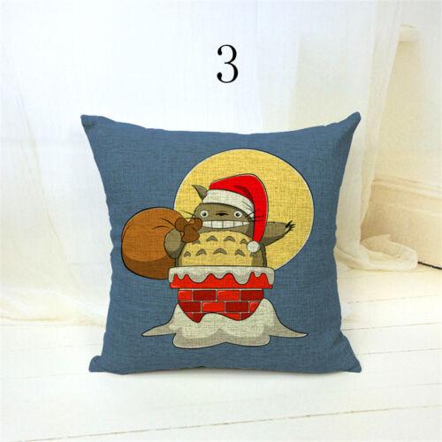 Housses de Coussin Cartoon capas almofadas camping Parapluie Noël travesseiro