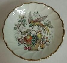 Limoges Miniature Porcelain Floral Bird Fruit Basket Footed Bowl Dish Compote