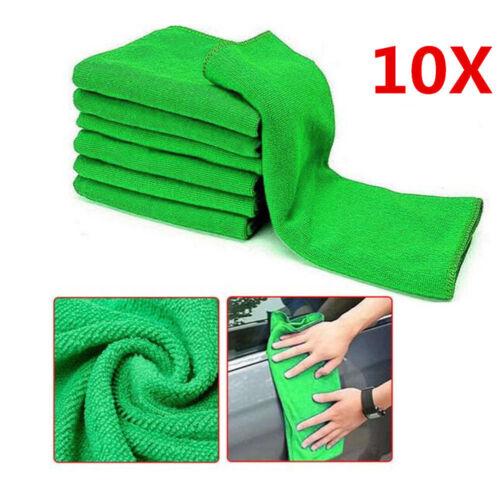 10 Pcs//set Microfiber Washcloth Auto Car Care Cleaning Soft Towels Tool Kit