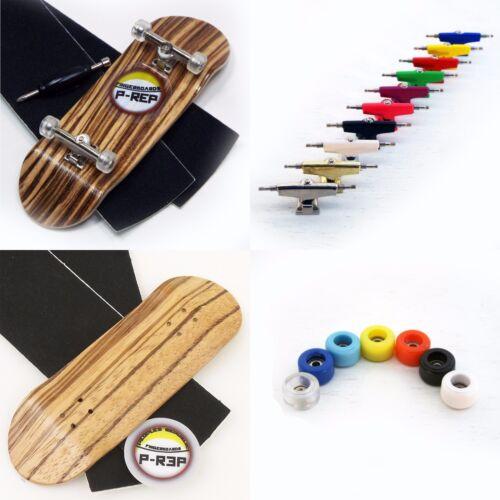 custom color trucks and wheels P-REP 32mm Zebra Wooden Fingerboard Complete