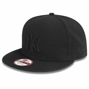 bc30453a NEW ERA MENS 9FIFTY BASEBALL CAP.NEW YORK YANKEES BLACK FLAT PEAK ...