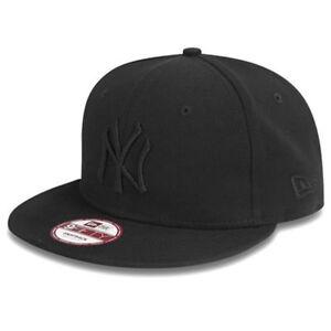 51d038eb5ebd5 NEW ERA MENS 9FIFTY BASEBALL CAP.NEW YORK YANKEES BLACK FLAT PEAK ...