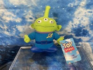 """Alien Toy Disney Pixar Toy Story Thinkway Toys Beanie 5"""" With Tags"""